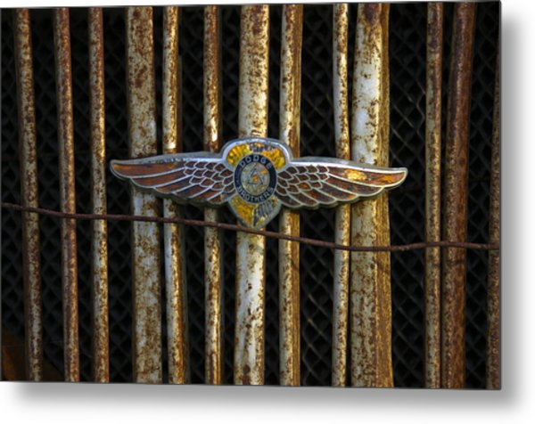 Dodge Brother Emblem Metal Print by Penny  Ryan
