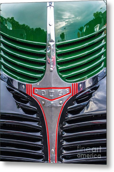 Dodge Grill Metal Print by Ursula Lawrence