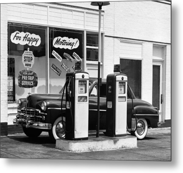 Dodge In Service Station Metal Print by George Marks