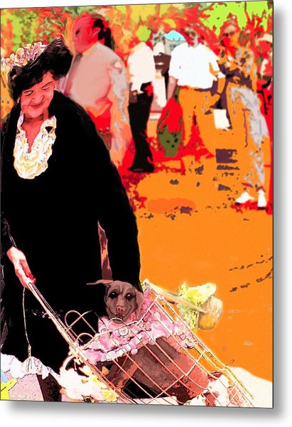 Dog Lady Metal Print