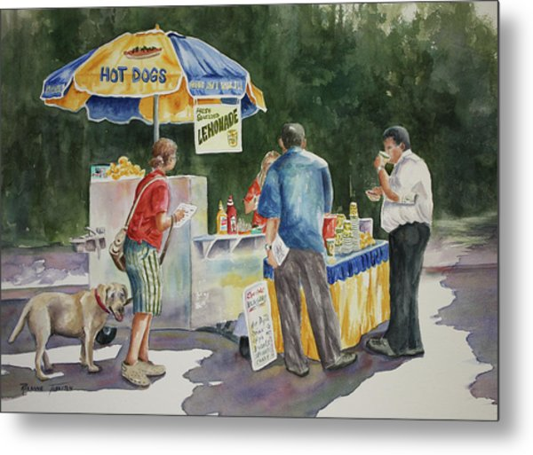 Dogs In The Park Metal Print