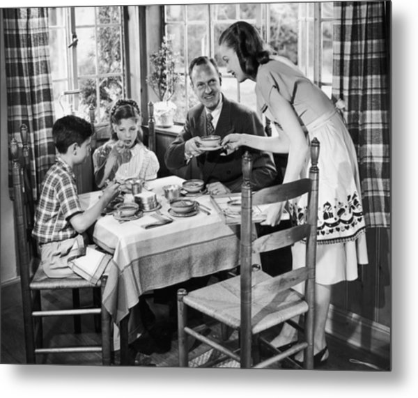 Domestic Bliss Metal Print by A E French