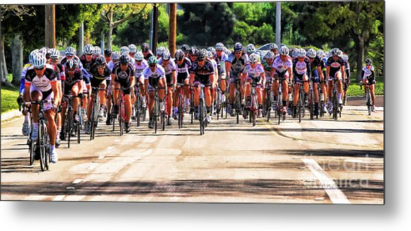 Dominguez Hill Cycle Race Metal Print by Clare VanderVeen