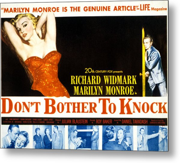 Dont Bother To Knock, Marilyn Monroe Metal Print by Everett