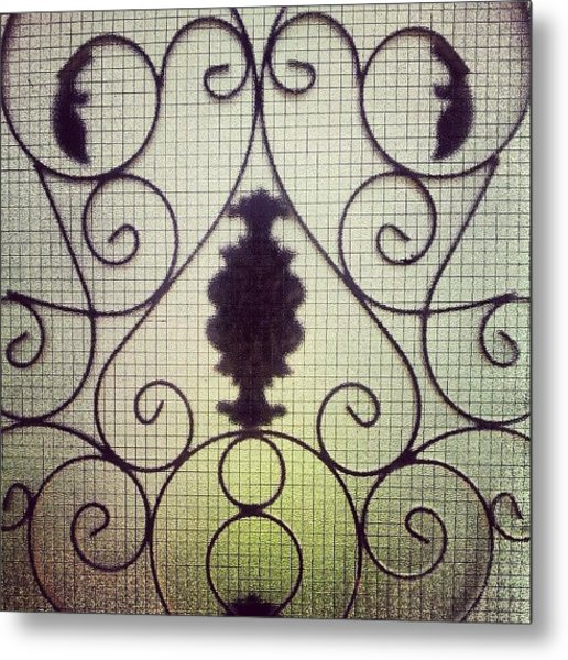 #door #glass #garden #art #home #house Metal Print
