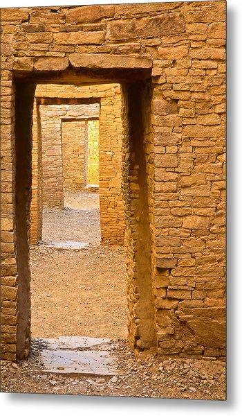 Doorway Chaco Canyon Metal Print