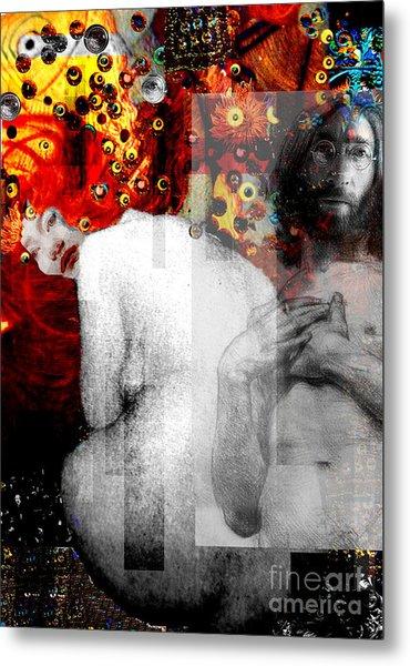 Double Fantasy John Lennon Yoko Ono Nude Metal Print