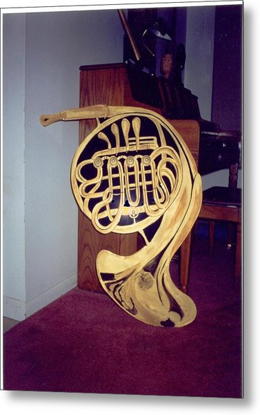 Double French Horn Metal Print
