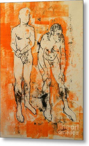 Double Male Nude Metal Print