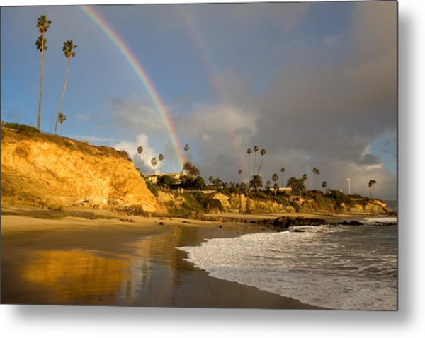 Double Raibow Over Laguna Beach Metal Print