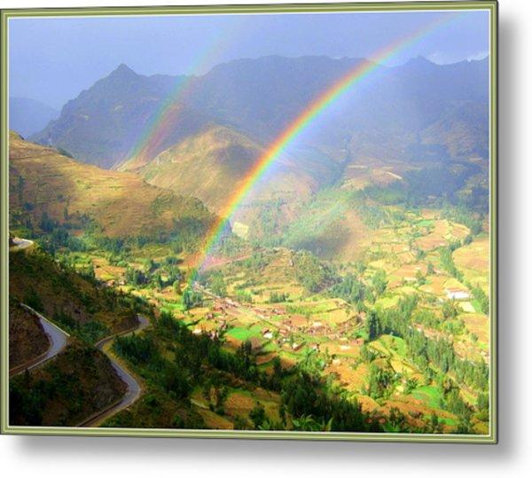Double Rainbow Metal Print by Satya Winkelman