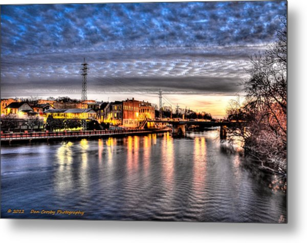Downtown Batavia Illinois Metal Print by Dan Crosby