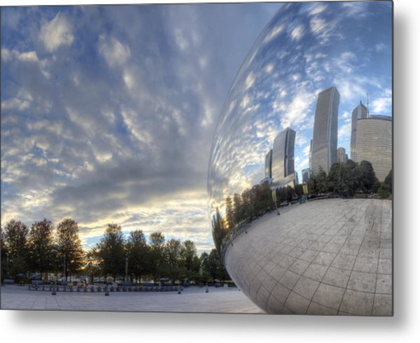 Downtown Chicago At Dawn Metal Print by Twenty Two North Photography