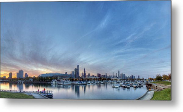 Downtown Chicao From Northerly Island Metal Print