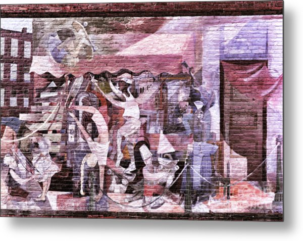 Downtown Northampton - Mural Metal Print by HD Connelly