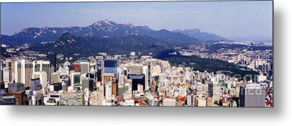Downtown Seoul Skyline Metal Print by Jeremy Woodhouse