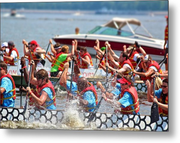 Dragon Boat Regatta 2 Metal Print