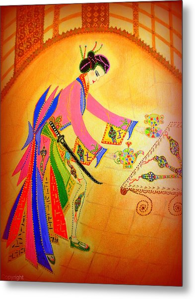 Dragon-geisha Metal Print