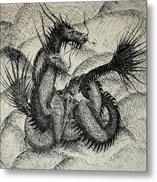 Dragon Love Metal Print