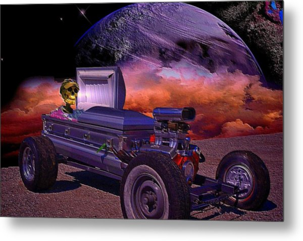 Dragula Munster Dragster Replica Metal Print by Tim McCullough