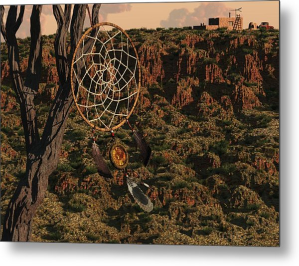 Dream Catcher Metal Print by Diana Morningstar