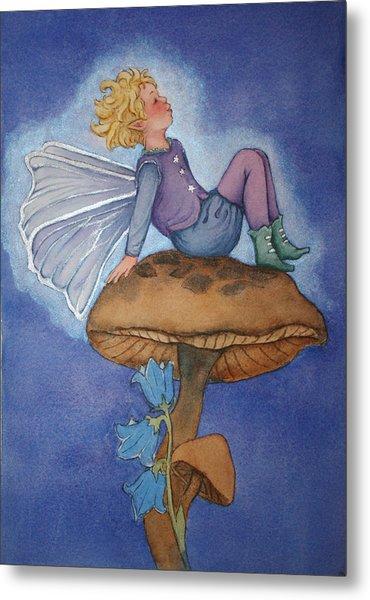 Dreaming Fairy Metal Print by Leslie Redhead