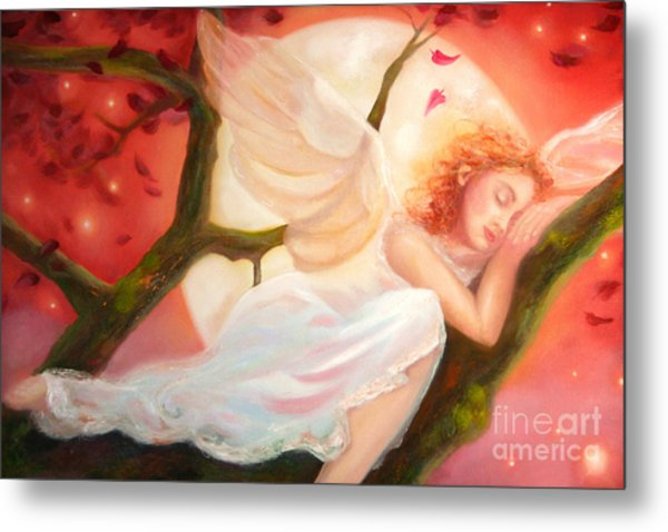 Dreams Of Strawberry Moon Metal Print