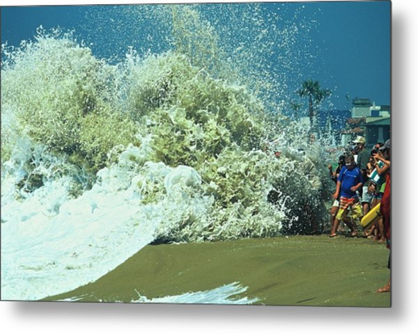 Drenched Metal Print