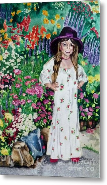 Dress Up In The Garden Metal Print