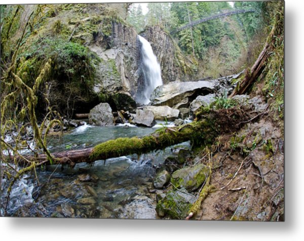 Metal Print featuring the photograph Drift Creek Falls by Margaret Pitcher