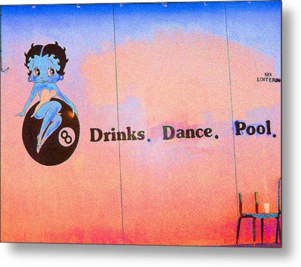 Drink Dance Pool Metal Print