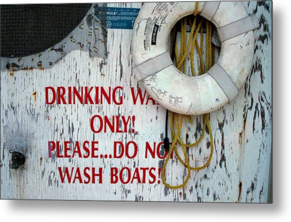 Drinking Water Only Metal Print