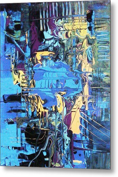 Drowning In The Blues Metal Print
