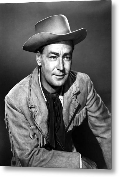 Drum Beat, Alan Ladd, 1954 Metal Print by Everett