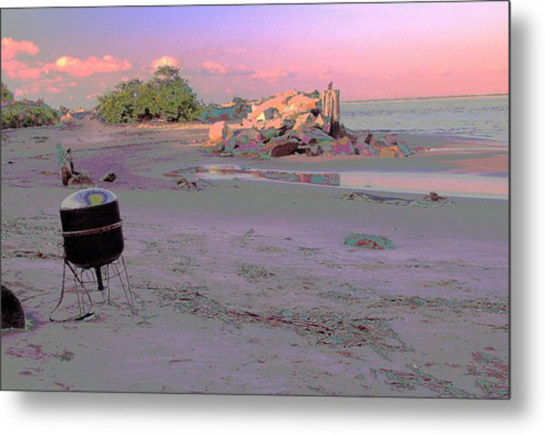 Drum On Beach Metal Print