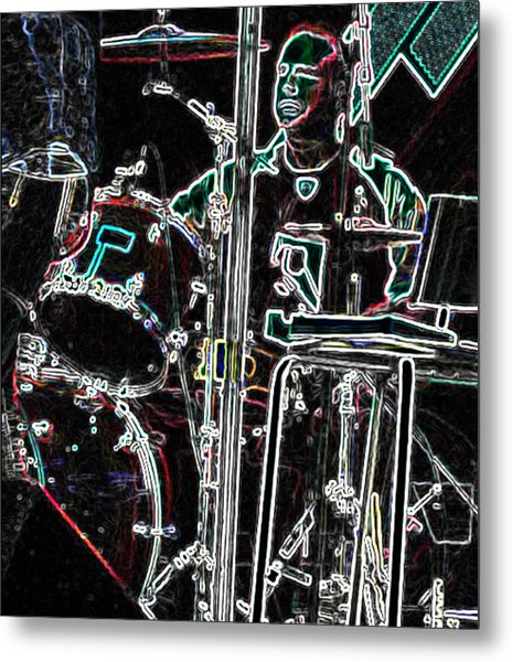 Drummer Metal Print by David Alvarez