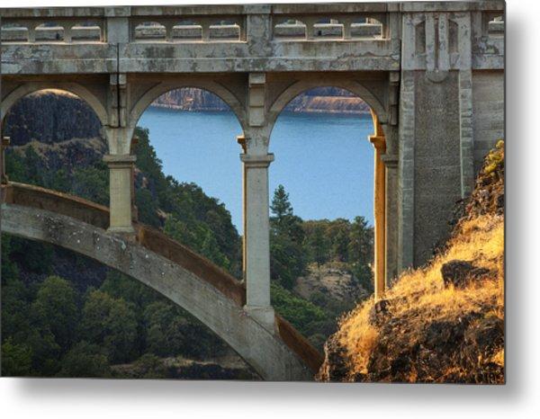 Dry Canyon Bridge Metal Print