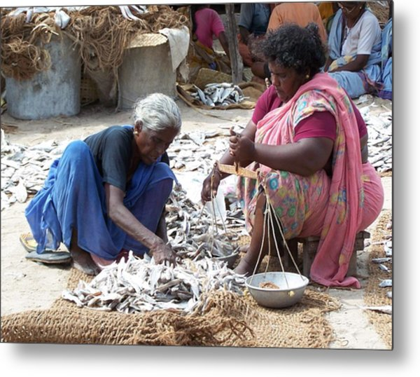Dry Fish Metal Print by Sugantha Priya