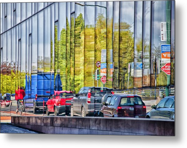 Dublin Traffic Metal Print