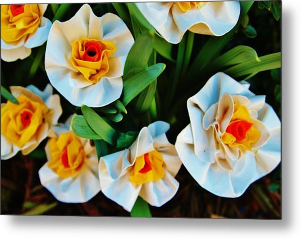 Ducktapespring Metal Print by Laura  Grisham