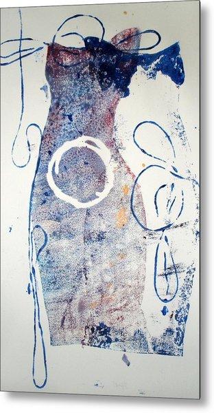 Duet In Blue Metal Print