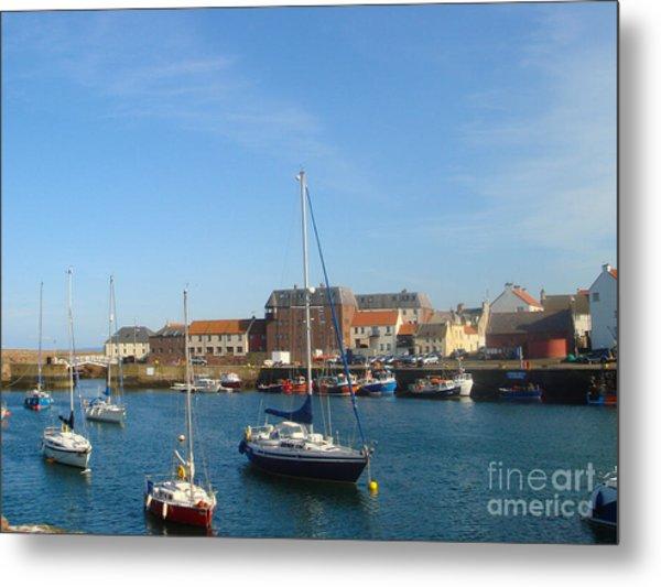 Dunbar Harbour Metal Print by Yvonne Johnstone