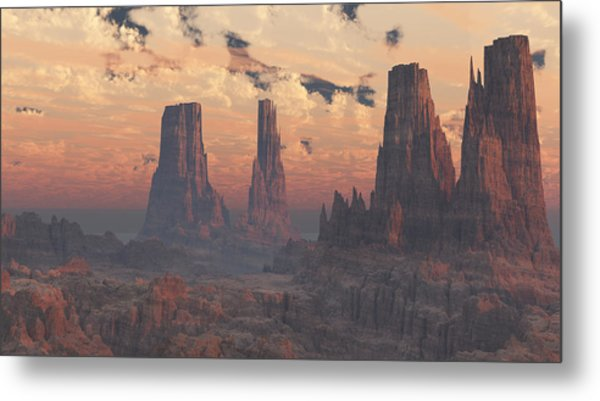 Dusk At The Towers Metal Print
