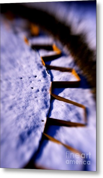 Dusty Snow And Geometry Third View Metal Print by Anca Jugarean