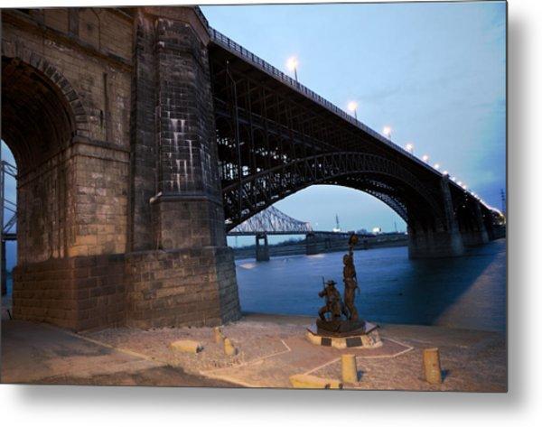 Eads Bridge Lewis And Clark Landing Metal Print