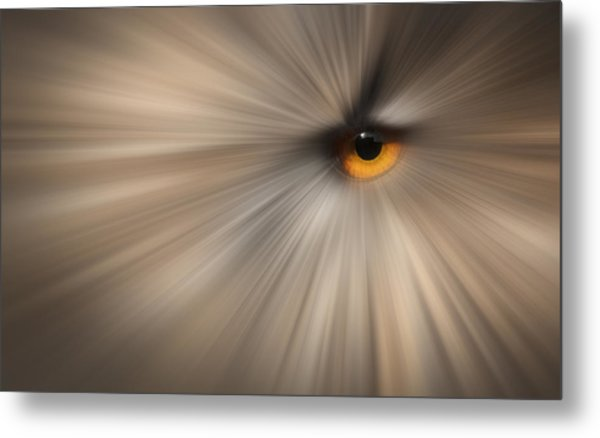 Eagle Owl Eye Abstract Metal Print by Andy Astbury