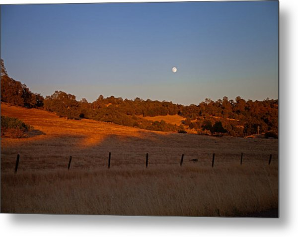 Early Moon Over Campo Seco Metal Print by Joe Fernandez