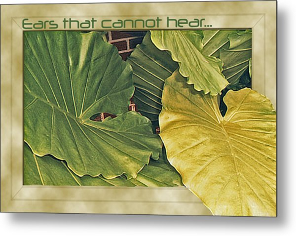 Ears That Cannot Hear... Metal Print by Larry Bishop