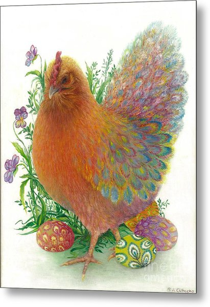 Easter Hen / Sold Metal Print
