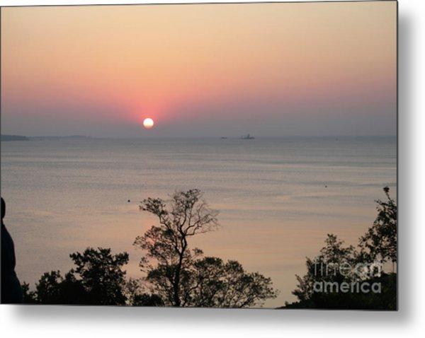 Easter Sunrise In Yorktown Metal Print by Marilyn West